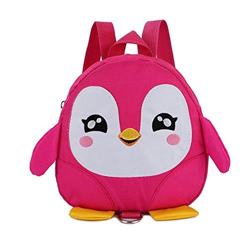 WENJIA Niños Niños Mochila Anti-Perdida Mini Historieta Encantadora Dibujos Animados Pingüino Arnés Cinturón Tracción Cuerda (Color : Pink)