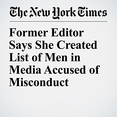 Former Editor Says She Created List of Men in Media Accused of Misconduct copertina