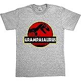 Camiseta «Grampasaurus», de la marca Fancy A Snuggle, con divertido diseño de dinosaurio para padres y abuelos Negro negro X-Large