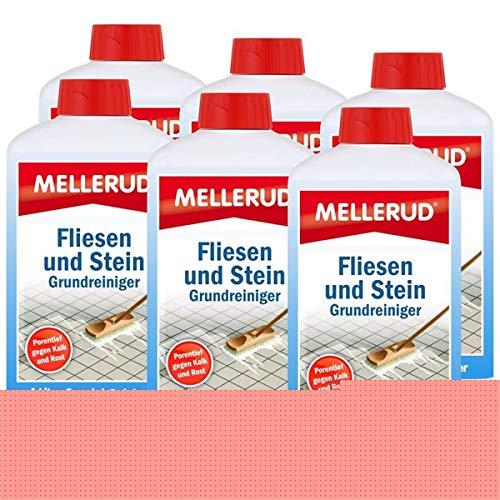 Mellerud Fliesen und Stein Grundreiniger 1L - Gegen Kalk und Rost (6er Pack)