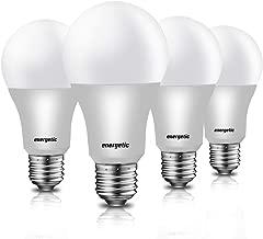 Led Light Bulbs 60 Watt Equivalent (9w), Warm White 3000K A19 LED Light Bulbs, Standard E26 Medium Base, 750lm Non-Dimmable, UL Listed, 4 Pack