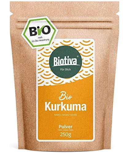 Poudre de curcuma bio 250g - Racine de curcuma de grande qualité moulue - Curcuma - Sachet fraîcheur refermable - Conditionné en Allemagne (DE-ÖKO-005)