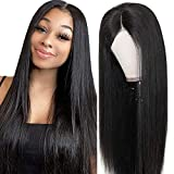 Echthaar perücke Human Hair middle lace front wig straight smooth natural hair Echthaarperücken...