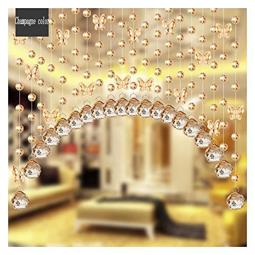 SSRS Manual de Cortinas moldeadas de Cristal Cortina de partición Habitación Sala de roscado Cortina, Personalizable Superficie Lisa perlada (Color : G, Size : 25 STRANDS-80X65CM)