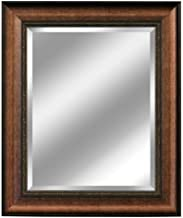 Head West Distressed Embossed Mirror, 31 by 37-Inch, Copper