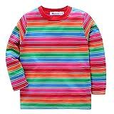 Baby Boys Girls Striped T-Shirts, Long Sleeve Cotton...