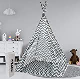 Teepee Tent for Kids | Tepee Play Tent Indoor and Outdoor Portable | Play Tent for Boy and Girls | Childrens Pop Up Tee Pee Playhouse Fort | Carry Case Included