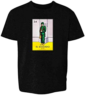 El Soldado Soldier Loteria Card Mexican Bingo Youth Kids Girl Boy T-Shirt