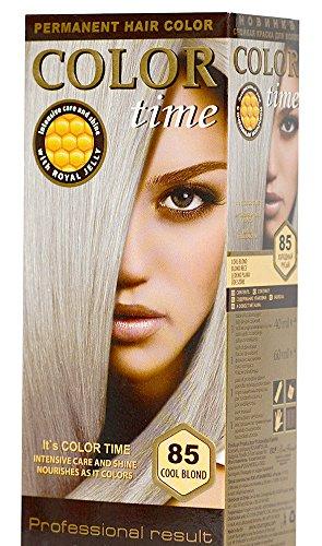 Color Time Haarfarbe Permanent, mit Gelée royale, 85 kühle Blondine