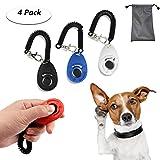 TedGem Clicker 4 piezas de adiestramiento para perros Clicker con correa de muñeca perro gato...