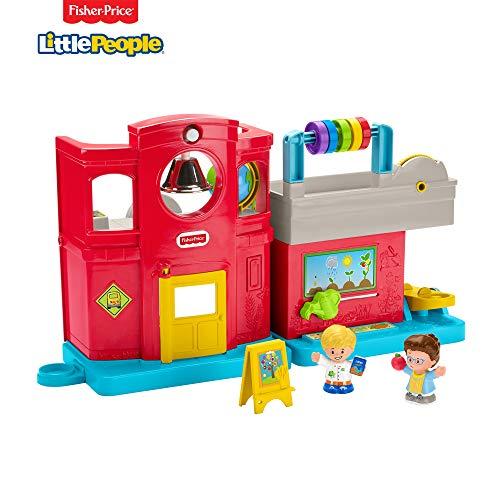 Fisher-Price Little People Schule, Spielzeug, 2 Figuren mit Musik, Phrasen und Sounds, 12 Monate und mehr, Gjc10