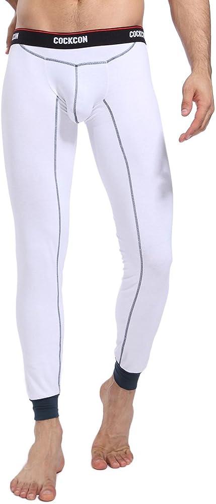 Bmeigo Men Thermal Pants, Long John Bottoms Cotton Leggings Base Layer Underwear