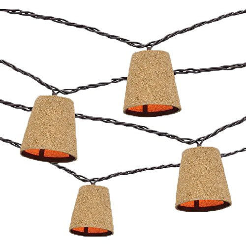 Threshold 10 Count Patio Indoor / Outdoor Weather Resistant Decorative Summer String Lights, Rustic Cork Cover with Subtle Light