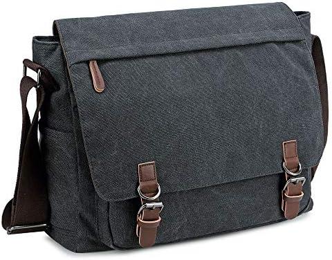Messenger Bag for Men and Women Retro Canvas Shoulder Bag Satchel For College fit 15 6 Inch product image