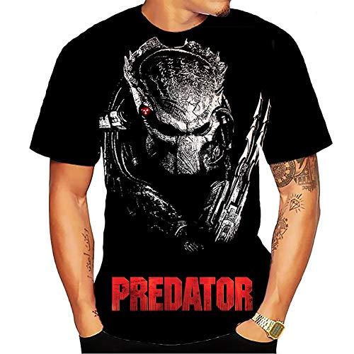 Cool Predator Graphic T-shirt for Men, Black