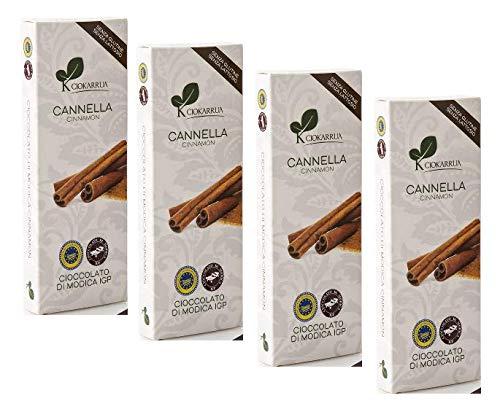 4 x 100 Gram - Ciokarrua Cioccolato Cannella / Cinnamon Chocolate
