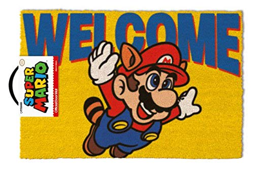Pyramid GP85157 Super Mario Welcome Fußmatte, Mehrfarbig, 40 x 60 cm