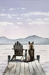German Shepherd - Patiently Waiting - Art Print by Watercolor Artist DJ Rogers
