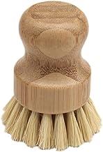 Kitchen Cleaning Brush Sisal Palm Bamboo Short Handle Round Dish Brush Bowl Pot Brush Durable Cleaning Brush (Color : XW04...