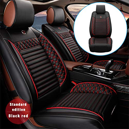 DBL 5 Seat Leather Car Seat Cover Full Set Fit for Buick Enclave Encore Lacrosse Excelle Regal Automotive Seat Covers Pad Protector (Black)