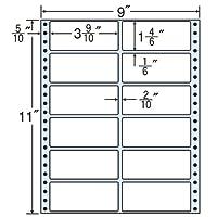 東洋印刷 ラベルシール タックフォームラベル 9インチ ×11インチ 12面付(1ケース500折) M9B