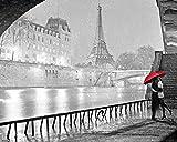 PARIS - Notre Dame Kiss - Mini Poster - 50cm x 40cm z484