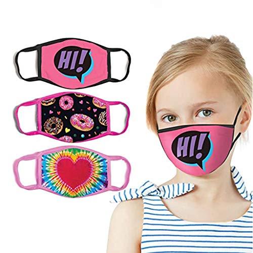 cinnamou 01 Mundschutz mit Motiv - Lustige Gesichtstuch für Gesicht aus Baumwolle Alter 4-14 Mädchen