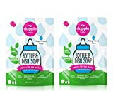Dapple Baby, Bottle and Dish Liquid Refill Dish Soap Plant Based Hypoallergenic, Fragrance Free, (Pack of 2) 68.0 Fl Oz