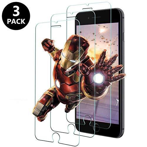 KOFOHO [Lot de 4] Verre Trempé pour iPhone 7,iPhone 8, Film Protection écran - Anti Rayures - sans Bulles d'air -Ultra Résistant (0,33mm HD Ultra Transparent) Dureté 9H Glass