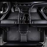 Alfombrillas De Coche para Lexus LC 2018, Revestimientos Para Pisos 3D Para Todo Tipo De Clima Caucho Inodoro Completa A Medida, Duraderos, Impermeables (Negro)