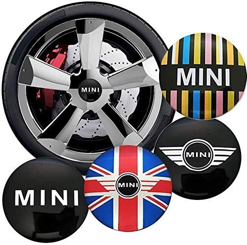 Fit For car Styling-Auto-Reifen-Rad-Mitte 56mm Hub Cap Aufkleber-Abzeichen-Aufkleber Zubehör Fit For Mini Cooper S...