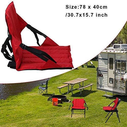 Sitz Gepolsterter Bodenstuhl Mit Rückenlehne Faltbar Und Universell Einsetzbar Zur Camping Picknick, Strapazierfähiges, UV-beständiges Nylon