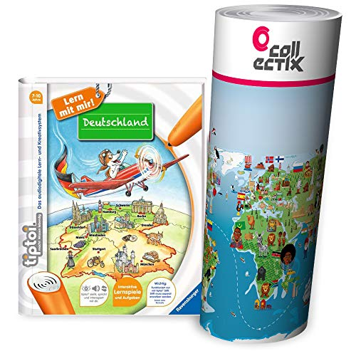 tiptoi Collectix Ravensburger Boek | Duitsland - Ondergoed basisschool + kinderwimmel wereldkaart - Leren steden, landen, dieren, continenten
