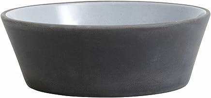 Preisvergleich für Steingut Schale Suppenteller schwarz weiß von NORDAL 16 cm S
