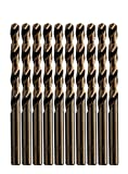 LETON HSS M35 Cobalt Drill Bit Set, Pack of 10(1/4', 6.5mm)