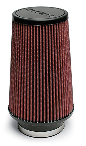 Airaid 701-470 Universal Clamp-On Air Filter: Round Tapered; 4 Inch (102 mm) Flange ID; 9 Inch (229 mm) Height; 6 Inch (152 mm) Base; 4.625 Inch (117 mm) Top