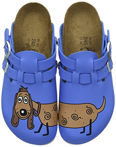 Birkenstock Professional Kay, Zoccoli Donna, Blu (Blau (Dog Blue Background)), 37 EU