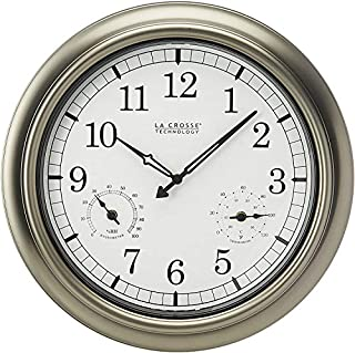 La Crosse Technology 18-Inch Atomic Outdoor Clock, Pewter (B0009J5O3K) | Amazon price tracker / tracking, Amazon price history charts, Amazon price watches, Amazon price drop alerts