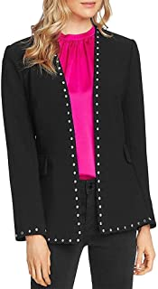 Vince Camuto Womens Studded Suit Seperate Open-Front Blazer Black 8