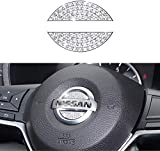 SummerPlus Bling Bling Car Steering Wheel Decorative Diamond Sticker Compatible with Nissan Rogue Altima Maxima Sentra Titan Pathfinder (Compatible with Nissan)