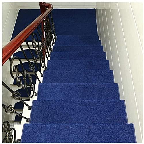 Conjunto de 15 Pisadas de escaleras Alfombra - Rectángulo Estera de escalera antideslizante for interiores - Fácil de instalar alfombras de escalera - Auto adhesivo Resistente a la escalera Runner