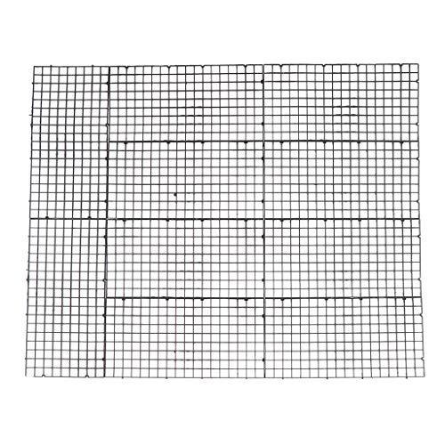 SM SunniMix 10 Stücke Aquarium Trennwand Isolation Filter Partition Board Net - Schwarz 30x15cm