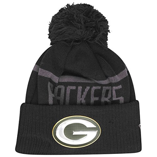 New Era Wintermütze Beanie Liquid Green Bay Packers schwarz