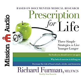 Prescription for Life     Three Simple Strategies to Live Younger Longer              By:                                                                                                                                 Richard Furman MD                               Narrated by:                                                                                                                                 Sean Runnette                      Length: 8 hrs and 41 mins     2 ratings     Overall 3.0