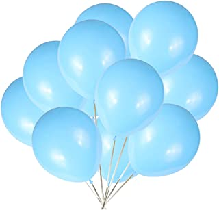 Party Balloons; 12-inch Latex Balloons 50 pcs, Wedding, Birthday Party, Baby Shower, Christmas Party Decorations (Light Blue)