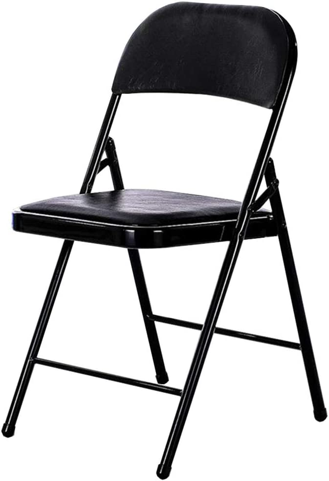 Dall Folding Chairs Steel Frame Computer Cushion Office Max 80% OFF In a popularity PU Chair