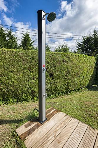 Gre DSPS35 - Ducha jardín, PVC, con Lavapiés, 35 litros