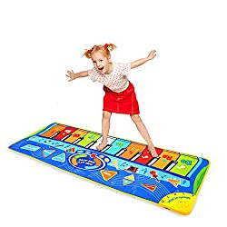 "in budget affordable MSANMERSEN Children's Piano Mat 50 ""x 18.5"" Piano Keyboard Mat Music Piano Mat, Performance, Recording,…"