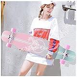 KHUY Monopatin Completo 43 Pulgadas Skateboard Longboard Cruiser para Adulto Niño Niia Principiantes Pro Longboard Dance 7 Capa Maple Deck Long Board Downhill Dancing Surfskate (Color : E with LED)