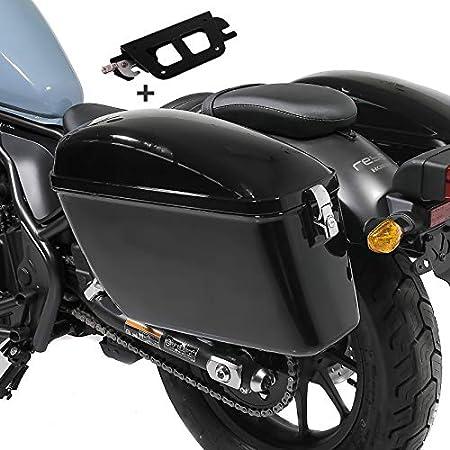 Seitenkoffer Für Honda Rebel 500 17 20 Mit Halter Abnehmbar Satteltasche Dallas Auto